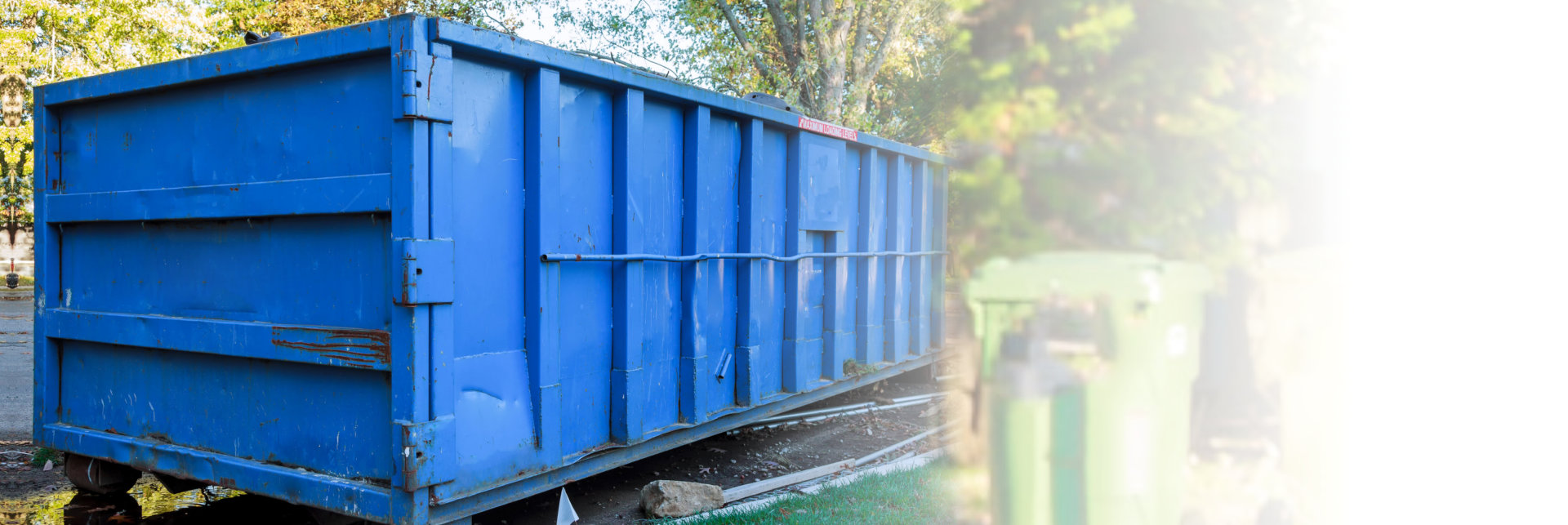 huge blue container