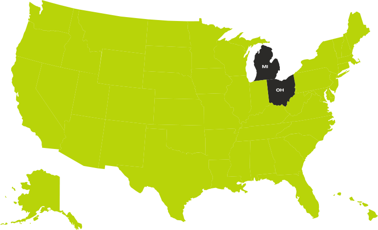 Oklahoma and Miami Map