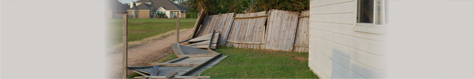 wrecked fences